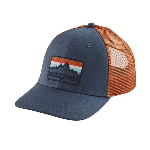 134abe1d1c284 PATAGONIA LINE LOGO BADGE LOPRO TRUCKER HAT NEW .